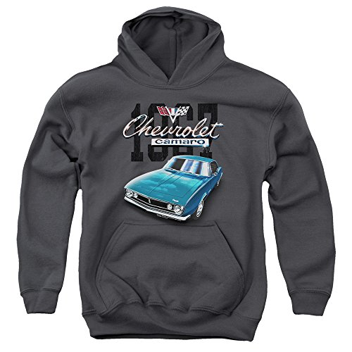 Chevrolet - - Jugend Classic Camaro Pullover Hoodie, Small, Charcoal (Hoodie Camaro)