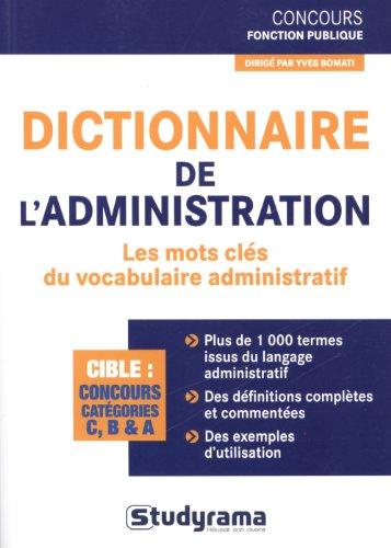 Dictionnaire de l'administration