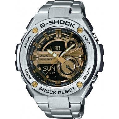 Casio Herren MultiZifferblatt Quarz mit Edelstahl Armbanduhr GST210D9AER (G-shock Uhren Aus Edelstahl)