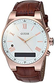 Guess Damen Analog-Digital Quarz Uhr mit Leder Armband C0002MB4