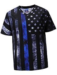 Magideal Camiseta Gráfica Teñido Anudado Manga Corta Casual Hippie Top Jóvenes Hombres Regalo Hermoso LVFNqppAA