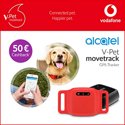 V-Pet movetrack by Vodafone mit V-SIM - Echtzeit LIVE GPS Tracker für Hunde und Katzen + 50€ Cashback