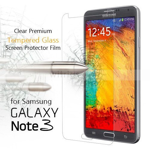Samsung Galaxy Note 3 – Tempered Glass Screen Protector with [2.5D Round Edge] [9H Hardness] [Crystal Clear] [Scratch-Resistant] [No-Bubble]
