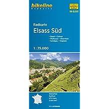 Alsace South cycle map GPS r/v wp