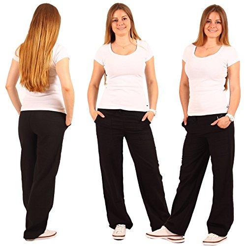 Pantaloni da donna in lino pantaloni Pumphose Aladin pantaloni Harem Pump Stretch Sport in 7colori (Pantaloni Misses Lino)