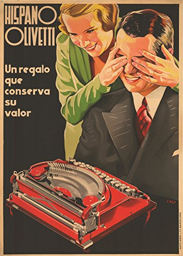 Usato, Vintage cancelleria e stampa Olivetti Hispano macchine usato  Spedito ovunque in Italia