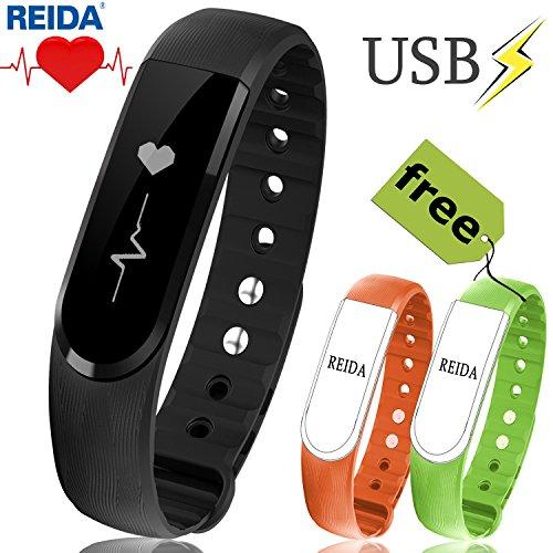 icefox Unisex Adult B3 Armband, Fitness Trackers Smart Uhr, Wasserdicht IP67 Bluetooth Aktivitätstracker mit Pulsmesser|Herzfrequenzmonitor|Schlafmonitor|Schrittzähler| Kalorienzähler, Schwarz, 1