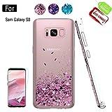 Atump Coque Galaxy S8 avec Protecteur d'écran, Diamant Liquide Paillette...