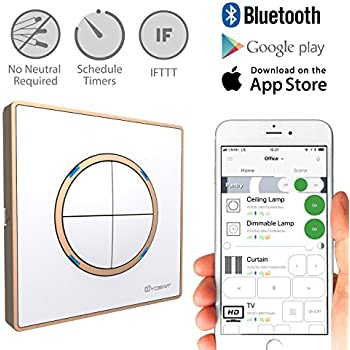 Yoswit Smart Light Switch 4 Gang Control Lighting From