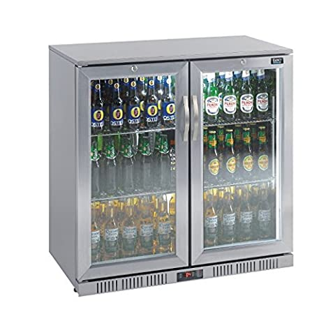 Lec Commercial CE549 Double Door Back Bar Cooler, Stainless Steel