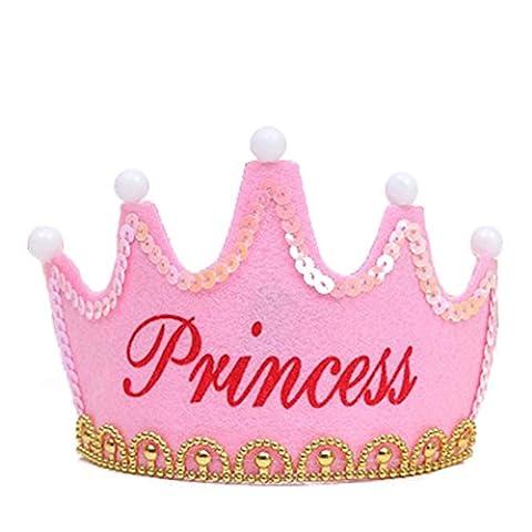 hibote fête d'anniversaire lumineuse couronne bébé anniversaire de Noël nouveaux chapeaux de enfants Princesse