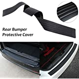 AutoTrends® Universal Car Trunk Rear Bumper Guard Sill Plate Trunk Rubber Protector Pad Kit With Free Adhesive Tape