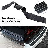 AutoTrends® Universal Car Trunk Rear Bumper Guard Sill Plate Trunk Rubber Protector Pad
