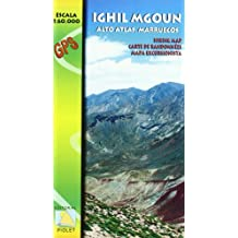 Ighil Mgoun, Alto Atlas, Marruecos. Escala 1:60.000. Mapa excursionista. Editorial Piolet.