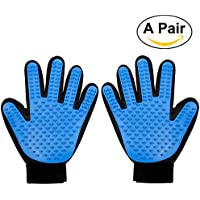 Foonii 2pcs Pet Glove Guanto Spazzola del guanto di massaggio pettine e Pulizia Elimina peli Morti per Cani e Gatti per gli animali domestici