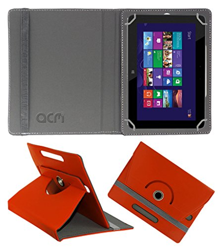 Acm Rotating 360° Leather Flip Case for Hp Omni 10 Cover Stand Orange  available at amazon for Rs.189