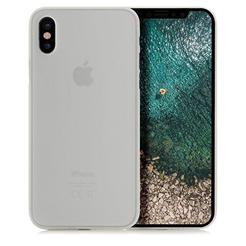 iPhone 8 Plus Hülle, Arktis Federleichte Schutzhülle matt blau-transparent Weiß