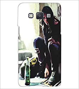 SAMSUNG GALAXY A5 GIRL PAINTING Designer Back Cover Case By PRINTSWAG