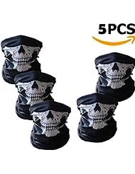 Masques de crâne, Ailiebhaus Écharpes de balaclava, crâne Bandanas Masques, pack de 5