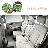 Docooler Car Headrest Collars 2 Pack Crystal Car Seat Headrest Decoration Charms for Auto Car Truck SUV Vehicle