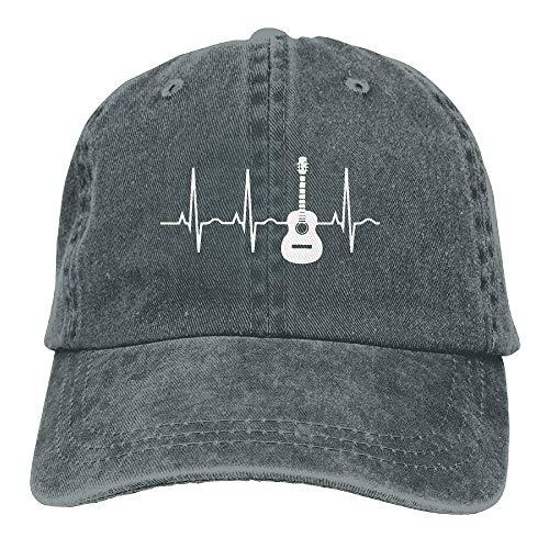 Daisy Evans Gitarren-Herzschlag-Baseballmütze-Denim-Hüte für Mann-Frauen