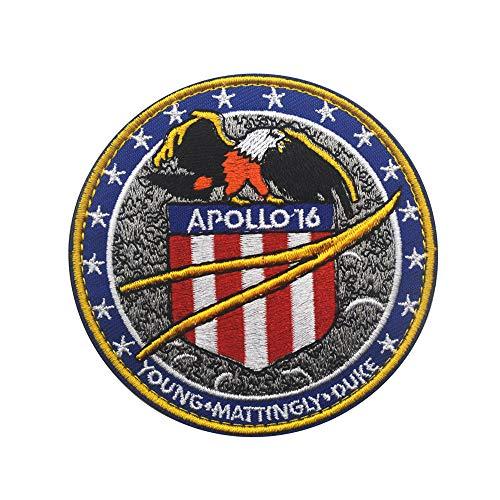 Elf Kampf Kostüm - Apollo 11 Mission Patch Offizielles NASA Space Shutte Programm DIY bestickte Kostüm-Applikation Abzeichen Taktische Militär Aufnäher Motorrad Tags Emblem für Reise Rucksack Hüte Jacken 16