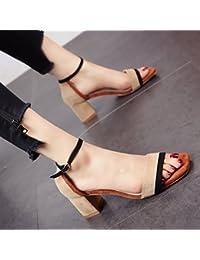 YMFIE Estate nuova personalità la colorazione di moda comoda banchetto di partito tacco alto sandali ladies alta...