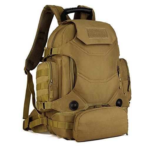 Imagen de huntvp  de asalto estilo militar táctical molle sistema 3 vías de llevar gran bolsa de nylon impermeable 40l para las actividades aire libre senderismo caza viajar color negro marrón y acu camuflaje