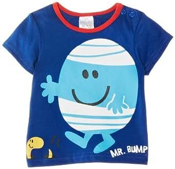 Mr Men Boy's Mr Bump T-Shirt, Blue, 9-12 Months