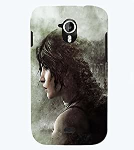 PRINTSWAG GIRL ART Designer Back Cover Case for MICROMAX A116 CANVAS HD