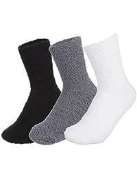 Lukis Unisex Winter Dicke Warme Socken Einfarbig Kuschelsocken Größe 36-44