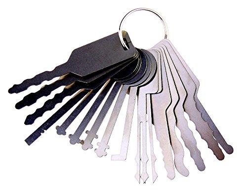 Dbh coche Jiggler juego de ganzúas, llave maestra para Auto, coche ce