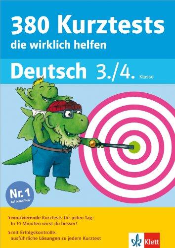 Preisvergleich Produktbild Klett 380 Kurztests, die wirklich helfen: Deutsch 3./4. Klasse (Die kleinen Lerndrachen)