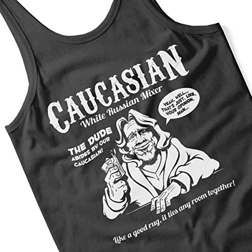 Caucasian White Russian Mixer Big Labowski Men's Vest Black