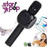 STARPOP Micrófono Inalámbrico Karaoke con Altavoz Portátil Bluetooth | 2 Altavoces...