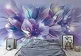 Wallsticker Warehouse Blumen Natur Lila Fototapete - Tapete - Fotomural - Mural Wandbild - (765WM) - XXL - 368cm x 254cm - Papier (KEIN VLIES) - 4 Pieces