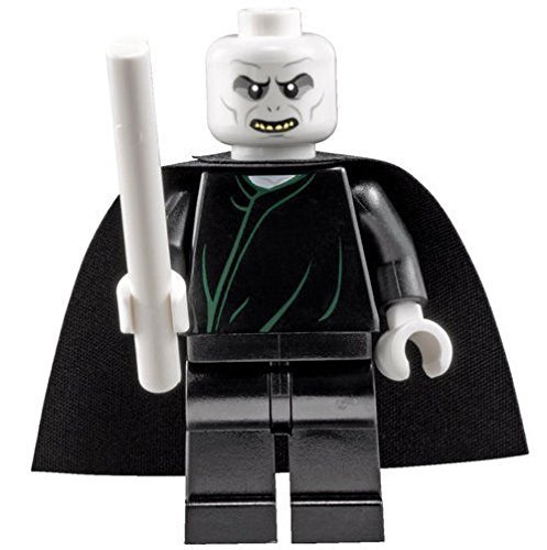 LEGO Harry Potter: Lord Voldemort Minifigura Con Color Blanco Varita M