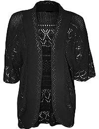 0b6d3321bc ZEE FASHION Women Ladies Knitted Bolero Crochet Shrug Open Cardigan Plus  Size UK 8-30