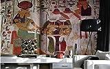 Tapete Fototapete Vlies Tapete 3D Tapeten 3D Fototapete 3D Retro Große Wandbilder Ägypten Lounge Café Tapeten Wandbild