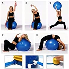Pink Pari Gym Ball with Foot Pump for Total Body Fitness, Abdominal Toner - Diameter 75 cm
