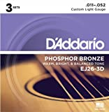 Best DEI String Lights - D'Addario EJ26-3D Phosphor Bronze Custom Light (.011-.052) Acoustic Review