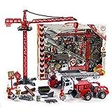 AOTE-D Simulation Inertia Jouet Voiture, Grue Tour échelle Modèle De Voiture Camion de Pompiers Jouet Enfants Jouet Voiture...