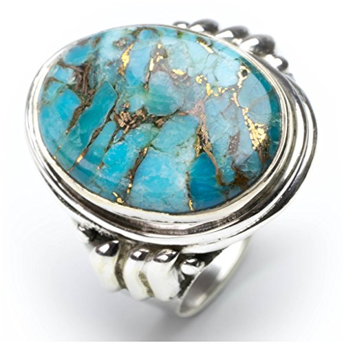 stargems-tm-cuivre-naturel-turquoise-bague-en-argent-sterling-925-taille-us-75