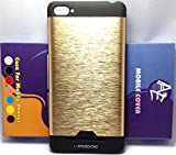 AE (TM) NEW MOTOMO Brushed Metal ULTRA SLIM DESIGN Back Case Cover for XIAOMI MI4I GOLD