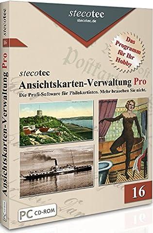 Ansichtskarten Sammeln Software - Stecotec Ansichtskarten-Verwaltung Pro - Programm f.