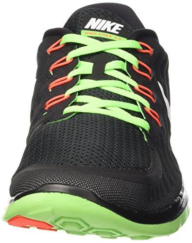 Nike Free 5.0 - Scarpe sportive da Uomo Nero (Black (012 BLACK/WHITE-VLTG GREEN-DRK GRY))