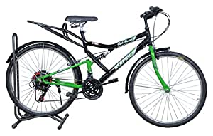 Atlas Weapon 26T Rear Suspension 21 Speed Mountain Bicycle For Adults Black&Green