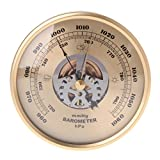 Barometer Exing, 108mm Wall Mounted Perspective Round Dial Air Weather Station mmHg/hPa