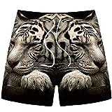 KZXCJ Pantaloncini da Nuoto da Uomo Stampa 3D Pantaloncini da Spiaggia Ad Asciugatura Rapida Estivi Pantaloni da Surf Pantaloni Sportivi A Maniche Corte Pantaloni da Uomo Corti Denim Senza