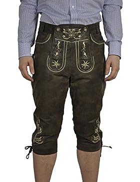 Herren Trachten Lederhose in der Farbe Braun, 22142